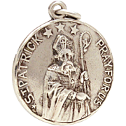 Creed Sterling Catholic Medal St. Patrick and Saint Bridget, Pray For Us, Reversible Prayer Medal, Catholic Devotional