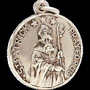 Creed Sterling Catholic Medal St. Patrick and Saint Bridget, Pray For Us, Reversible Prayer Medal, Catholic Devotional