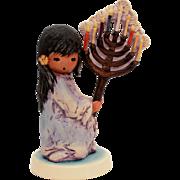 DeGrazia Goebel Festival of Lights, Vintage Hanukkah Menorah, Jewish Figurine, Judaica Goebel, Ettore Ted DeGrazia Southwest Native American