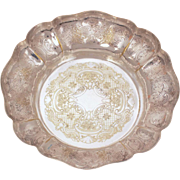 Barker Ellis Dish with Scallop Edge, Menorah Hallmark, Silverplate Serving Piece, Vintage Ornate Silver Plate, Ellis Barker England Silverplated