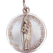 Our Lady of the Snows Catholic Medal, Italian Devotional, Souvenir Charm Our Lady Shrine Belleville Illinois, Virgin Mary Medal, Pray For Us