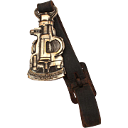 Nordstrom Hypreseal Valves Oil & Gas Advertising Watch Fob, Oil Field Production, Petroleum Advertising, Watch Fob on Leather Strap by Bastian Bros of Rochester, NY