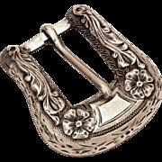 Hollands San Angelo Texas Sterling Belt Buckle #100, Western Ranger Buckle