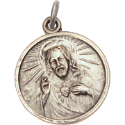 Our Lady of Mount Carmel & Sacred Heart of Jesus Medal, Catholic Devotional Mt. Carmel, Blessed Virgin Mary