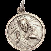 Our Lady of Mount Carmel & Sacred Heart of Jesus Medal, Catholic Devotional Mt. Carmel, Blessed Virgin Mary