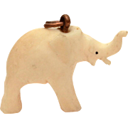Good Luck Charm Elephant with Trunk Up, Vintage Lucky Elephant Charm, Miniature Elephant Bracelet Charm, Mini Necklace Pendant