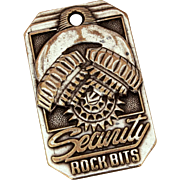 Security Rock Bits Pocket Watch Fob, Oil & Gas Drilling, Engineering Division, Drop in Any Mail Box Fob, Dallas Texas
