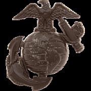 WWII USMC US Marine Corps Plastic Hat Pin, Marines Insignia Hat Badge EGA, Eagle Globe Anchor Screw Back Badge