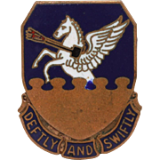 51st Fighter Group Deftly & Swiftly Pegasus Distinctive Insignia Pin, DUI Badge, DI Enamel Pin