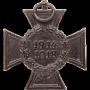 WWI German Hindenburg Cross, Black Honour Cross, Iron Honor Cross Germany, M&W Stuttgart Medal