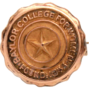 Baylor College for Women Pin, Belton Texas University of Mary Hardin Baylor, UMHB School Pin, Tiny Texas Star Pin