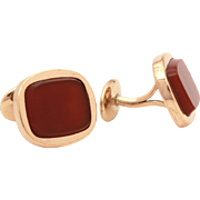 Antique Carnelian Cufflinks, Edwardian Cuff Links