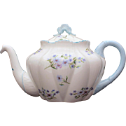 Shelley Blue Rock Dainty Shape 3 Cup Teapot, Shelley England Fine Bone China 13591