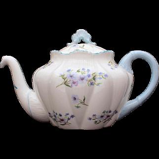 Shelley Blue Rock Dainty Shape 3 Cup Teapot, Shelley England Fine Bone China 13591