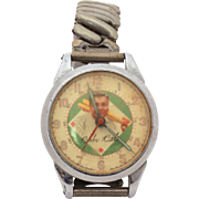 Babe Ruth Wrist Watch by Exacta 1948, Not Running