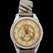 Babe Ruth Wrist Watch by Exacta 1948, Not Running