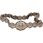 Antique 800 Silver Belt Middle Eastern or Turkish Ottoman Empire