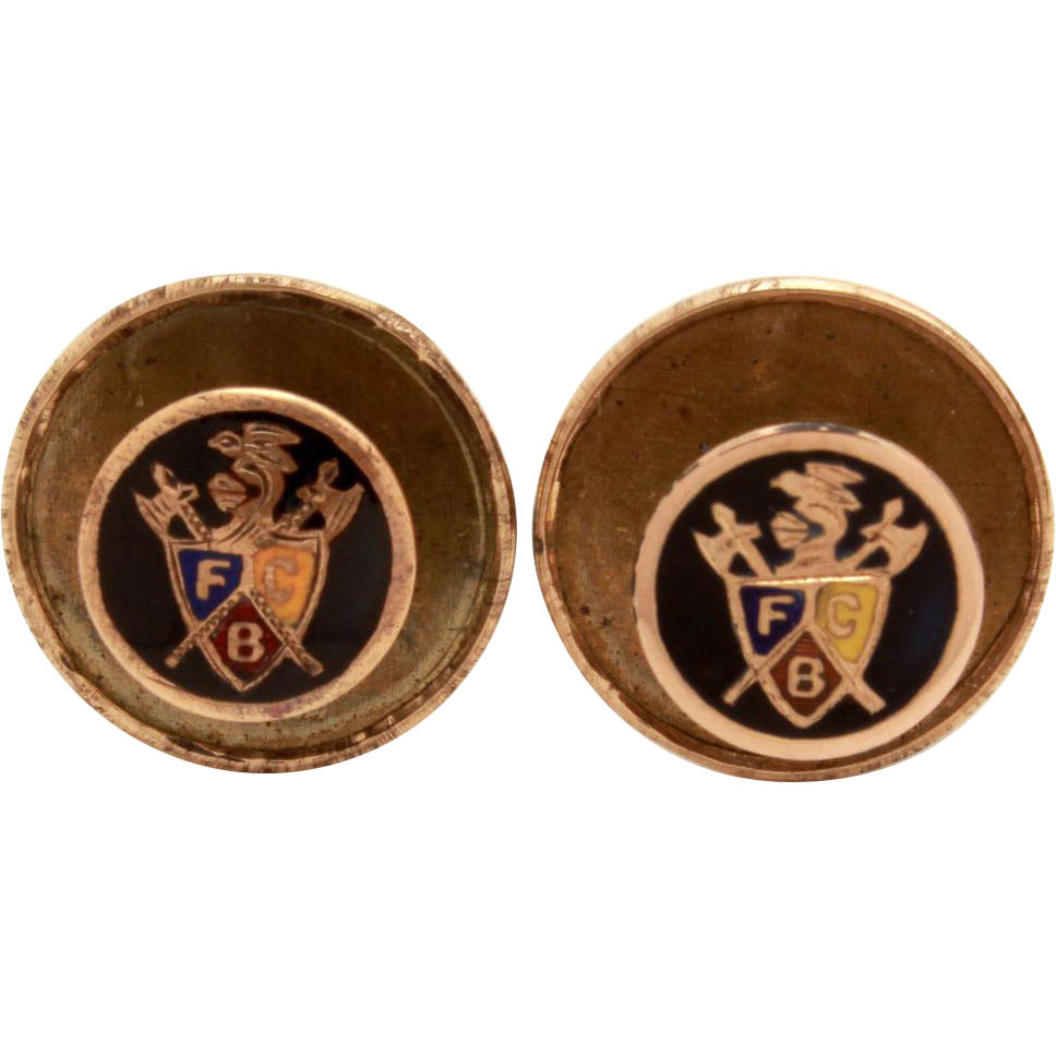 2 antique knights of pythias lapel pins or collar buttons. Black Bedroom Furniture Sets. Home Design Ideas