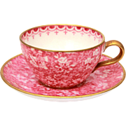 Miniature Cup & Saucer Spode Pink Chintz Y4762 Bone China Mini Tea Cup and Saucer Set, Doll Size Tea Cup:Copelands Spode