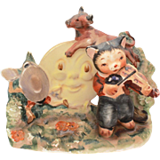 Lefton Nursery Rhyme Series Ceramic Figurine Hey Diddle Diddle the Cat and the Fiddle