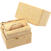 Antique 10k Gold Ostby Barton Baby Ring in Box, Tiny Size 1 3/4, Pinky Midi Ring, Stackable Band