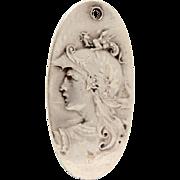 Unger Bros. Sterling Minerva or Athena Goddess Pendant