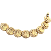 Napier Sterling Neoclassical Shell Design Bracelet