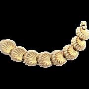Napier Sterling Neoclassical Shell Design Bracelet