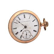 Antique Elgin National Watch Co. Pocket Watch in Gold Filled Case, As Is Condition, Does Not Run, For Parts & Repair