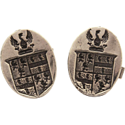 Charles Walker Sterling Heraldic Cufflinks with Coat of Arms, Chas Walker Originals