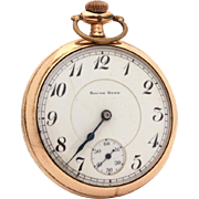1919 South Bend Pocket Watch 19 Jewels Double Roller, Serial Number 896303, Gold Filled Panama Case, Does Not Run, For Parts & Repair