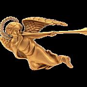 MMA Trumpeting Angel with Rhinestone Halo Pin, Necklace Pendant Metropolitan Museum of Art