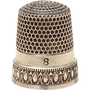 Antique Sterling Simons Bros Priscilla Sewing Thimble