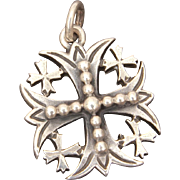 Retired James Avery Sterling Jerusalem Cross Pendant