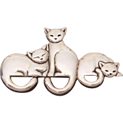 James Avery Sterling Cat Pin, Silver Kitten Brooch