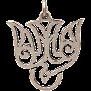 Retired James Avery Descending Dove Holy Spirit Sterling Necklace Pendant