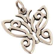 Classic James Avery Sterling Butterfly Pendant or Bracelet Charm 3/4""