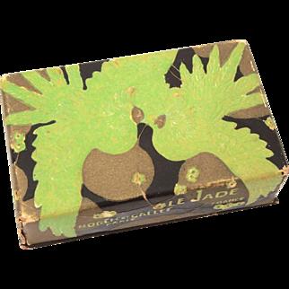 Rene Lalique Art Deco Era Empty Perfume Bottle Box for Roger et Gallet Le Jade
