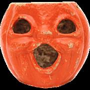 1940s Halloween Jackolantern Smiling Pumpkin Paper Pulp Pumpkin Jack-O-Lantern Paper Mache