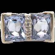 Aquamarine 10k White Gold Pinky Ring, March Birthstone, Size 4