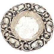 Antique Whiting Lily of the Valley Flowers Sterling Bon Bon Dish Bowl