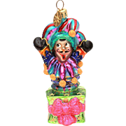 Christopher Radko Jack in the Box Jester, Christmas Ornament in Box with Tag
