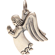 James Avery Sterling Praying Guardian Angel Charm, Small Pendant