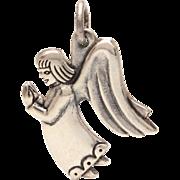 James Avery Sterling Praying Guardian Angel Charm, Small Pendant