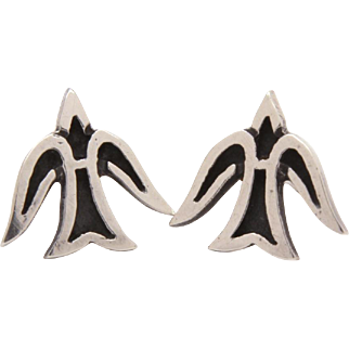James Avery Sterling Descending Dove Pierced Stud Earrings