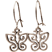 James Avery Sterling Butterfly Pierced Dangle Earrings