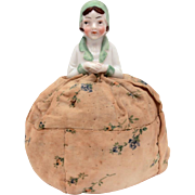 Porcelain Half Doll Pincushion, Cloche Hat & Suite, Pin Cushion