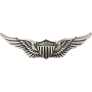 """Balfour Sterling Post WWII Pilot Wings Pin USAAF, United States Army Air Force, 2.5"""" Wide"""