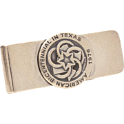 James Avery American Bicentennial in Texas 1976 Sterling Money Clip