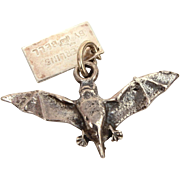 Sterling Flying Vampire Bat Charm from Bell Trading Post, Carlsbad Caverns New Mexico